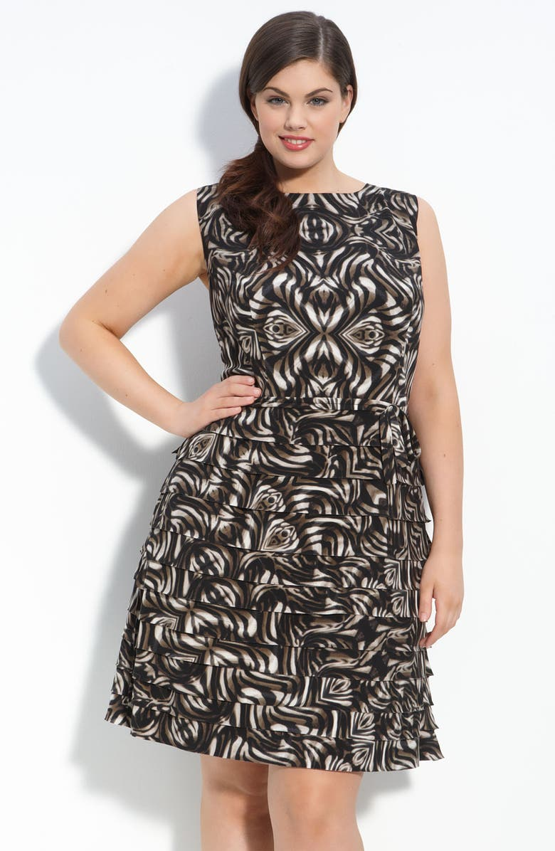 TAYLOR DRESSES Tiered Jersey Dress, Main, color, 200