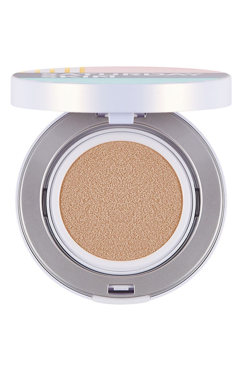 SATURDAY SKIN All Aglow Sunscreen Perfection Cushion Compact SPF 50, Main, color, 02 CHAMPAGNE