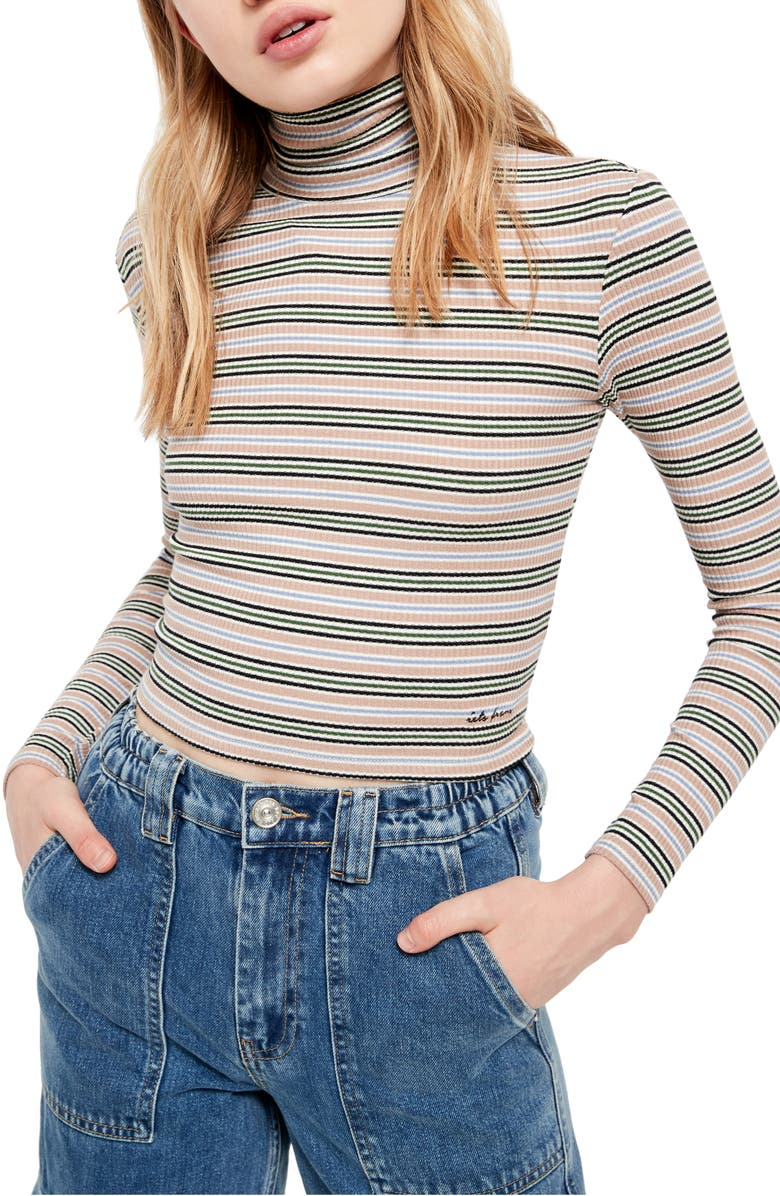BDG URBAN OUTFITTERS Stripe Turtleneck, Main, color, 900