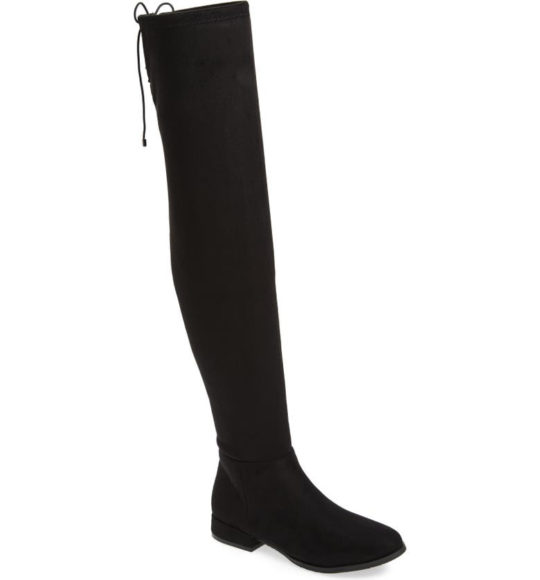 CHINESE LAUNDRY Rashelle Over the Knee Stretch Boot, Main, color, BLACK SUEDE