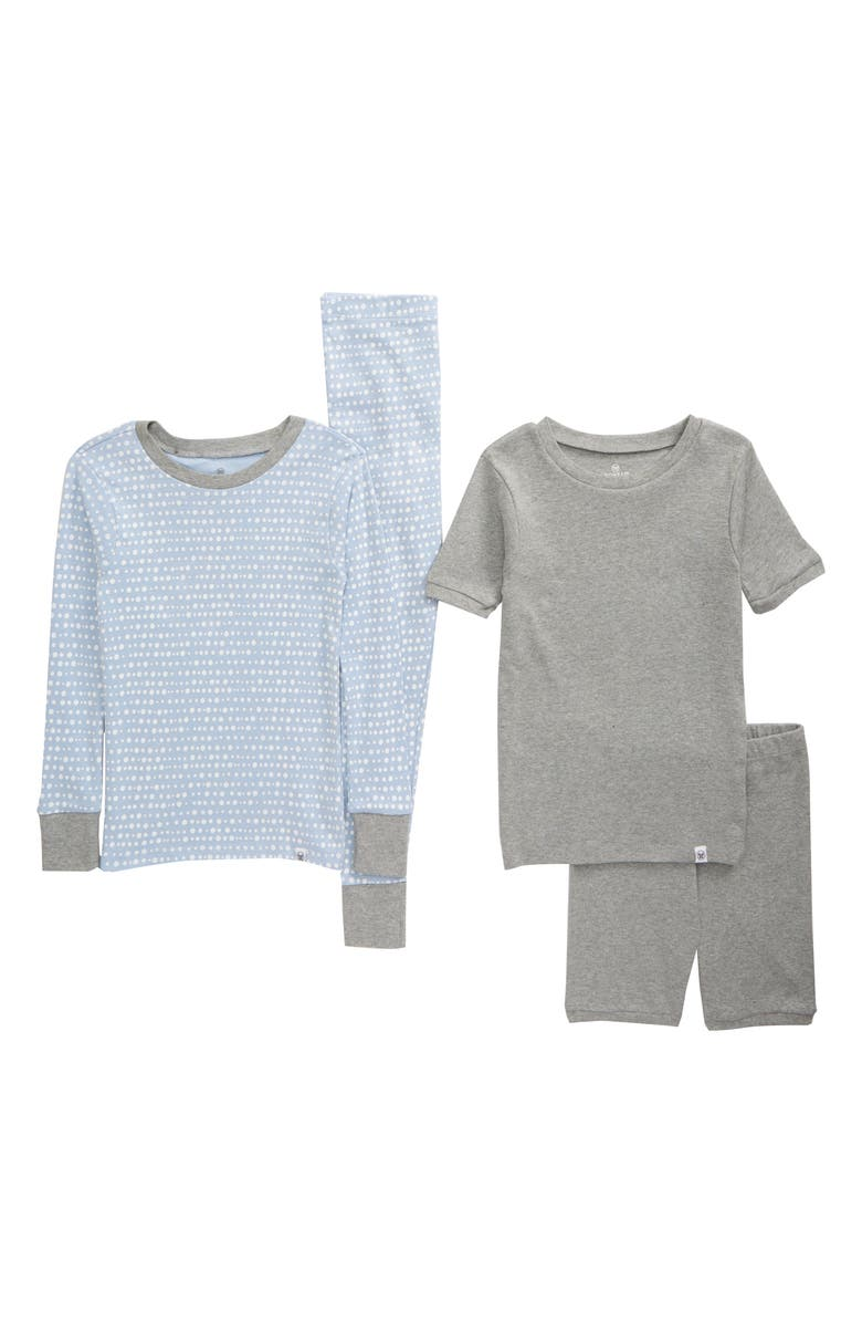 HONEST BABY Kids' 2-Pack Organic Cotton Fitted Two-Piece Pajamas, Main, color, 427