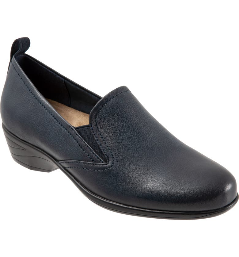 TROTTERS Reggie Loafer, Main, color, NAVY LEATHER