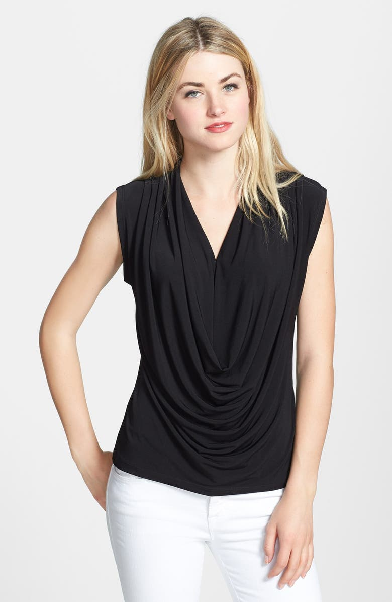 ECI Cowl Neck Stretch Knit Top, Main, color, 001
