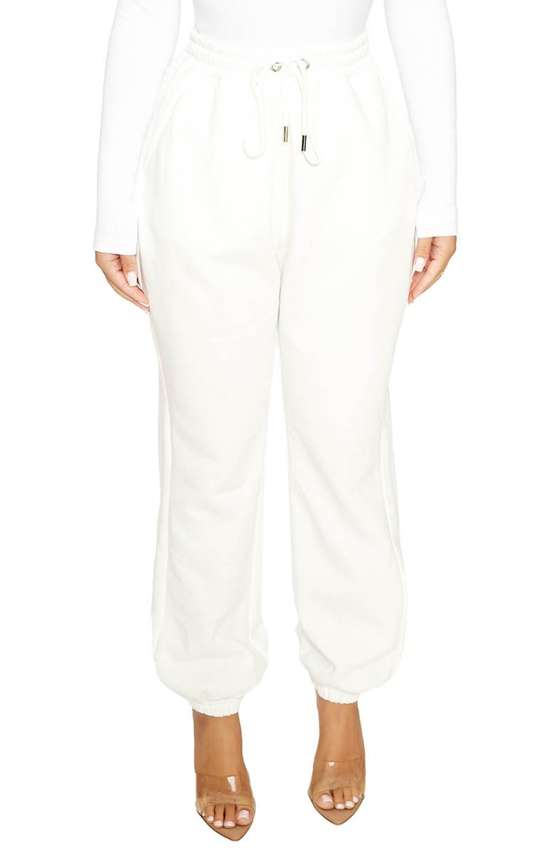 NAKED WARDROBE Don't Sweat it Baby Joggers, Main, color, WHITE