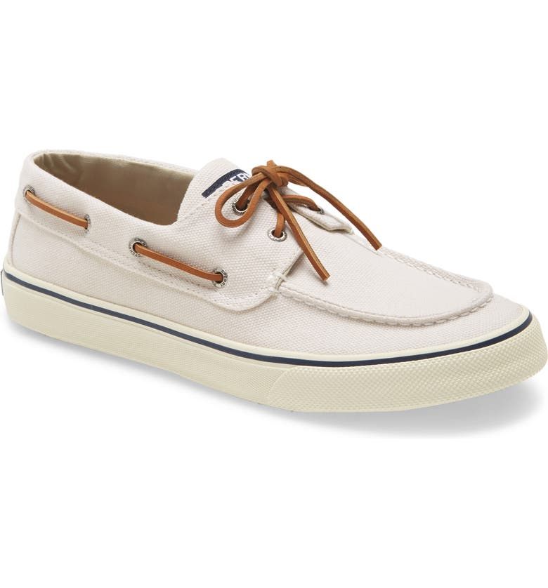 SPERRY KIDS Sperry Bahama II Boat Shoe, Main, color, OFF WHITE CANVAS