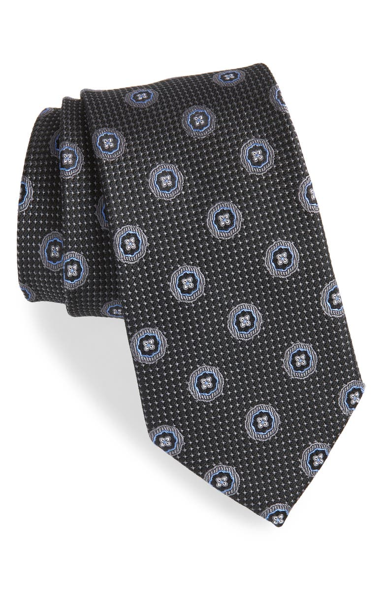 NORDSTROM Men's Shop Medallion Silk Tie, Main, color, 001