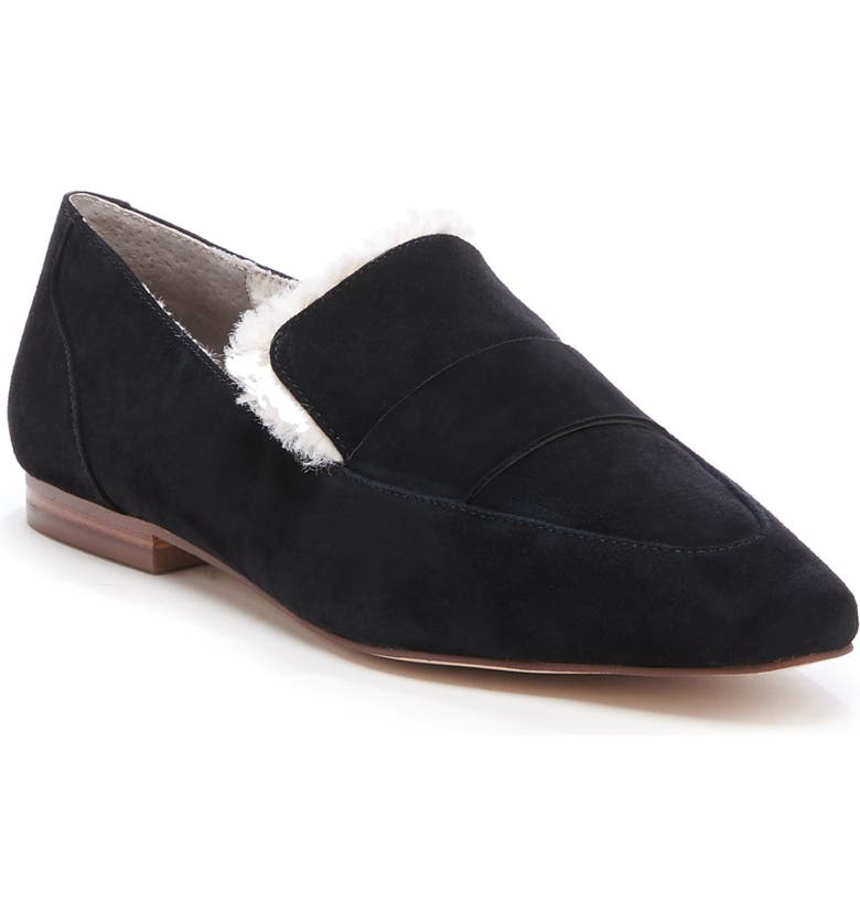 SOLE SOCIETY Bettina Loafer, Main, color, BLACK/ NATURAL LEATHER