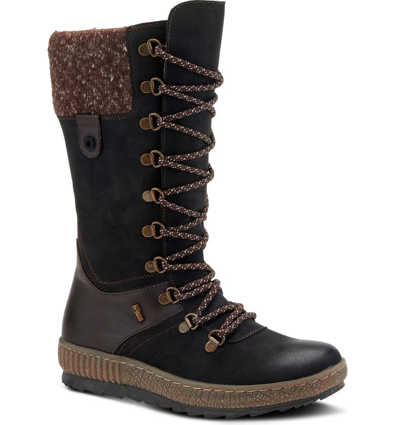 SPRING STEP Chibero Faux Shearling Lined Water Resistant Boot, Main, color, 001