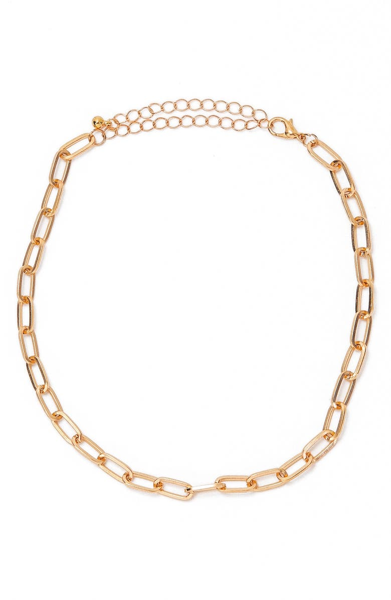 PETIT MOMENTS Curb Chain Choker, Main, color, GOLD