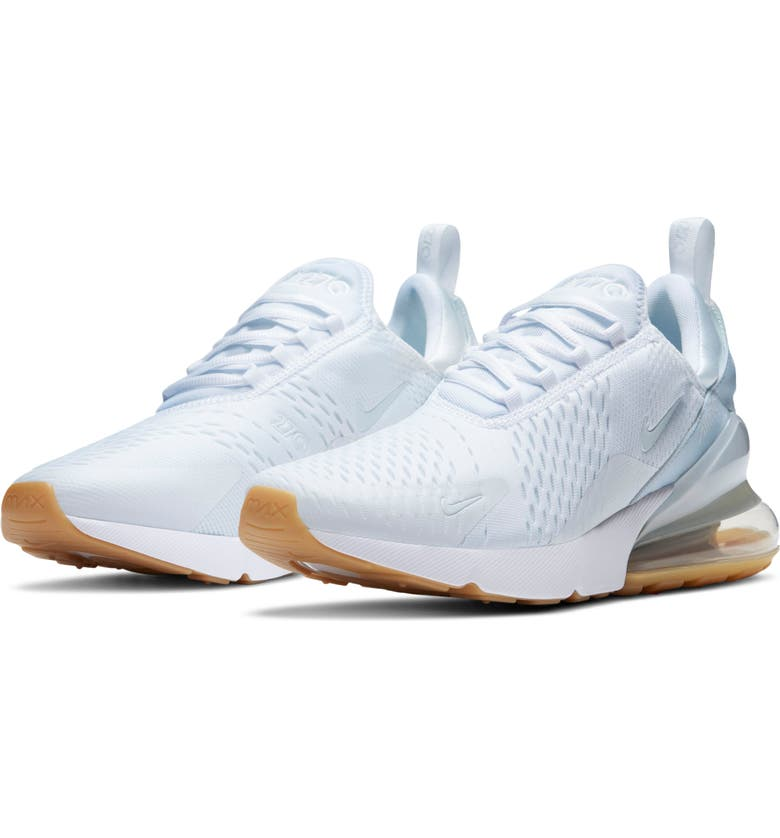 NIKE Air Max 270 Sneaker, Main, color, WHITE/ WHITE GUM LEATHER