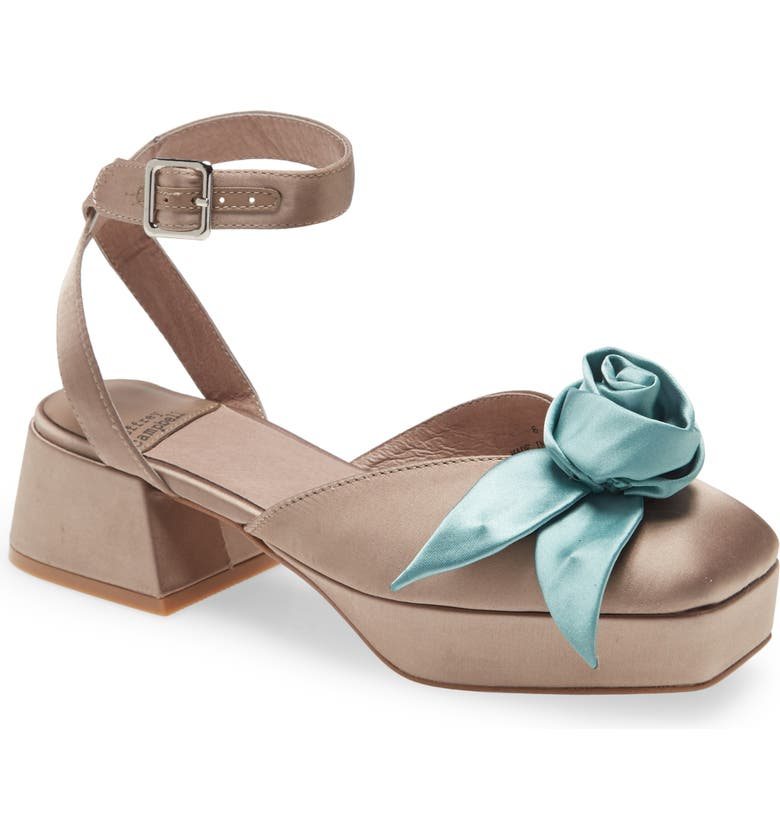 JEFFREY CAMPBELL Rosies Pump, Main, color, TAUPE SATIN TURQUOISE