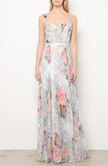 Floral Pleated Tulle Gown, video thumbnail