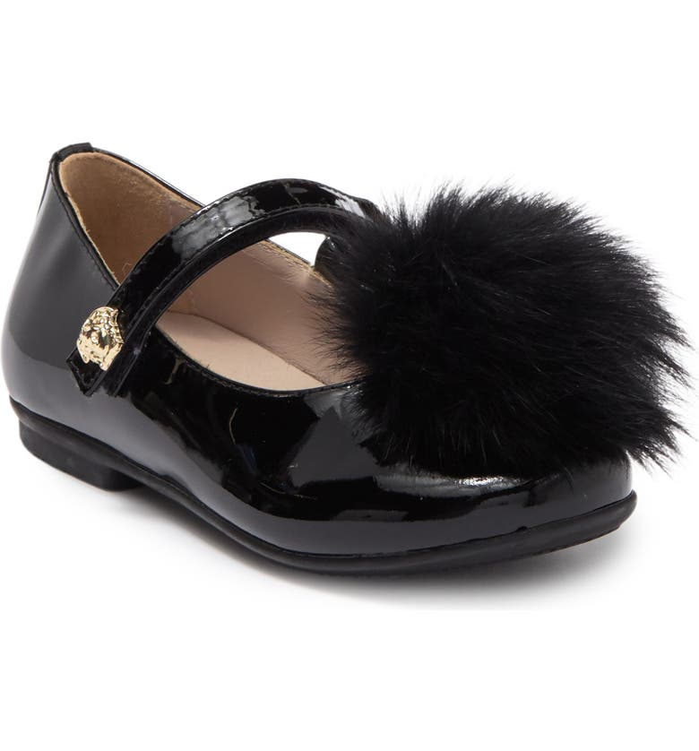 VERSACE Fur Mary Jane, Main, color, BLACK-GOLD