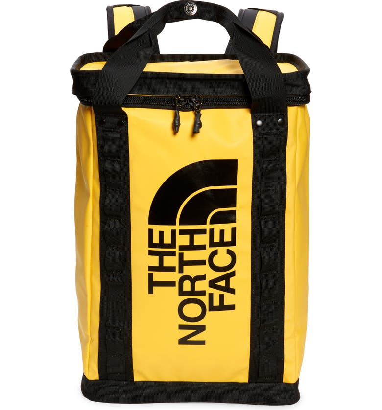THE NORTH FACE Large Explore Fusebox Backpack, Main, color, SUMMIT GOLD/BLACK
