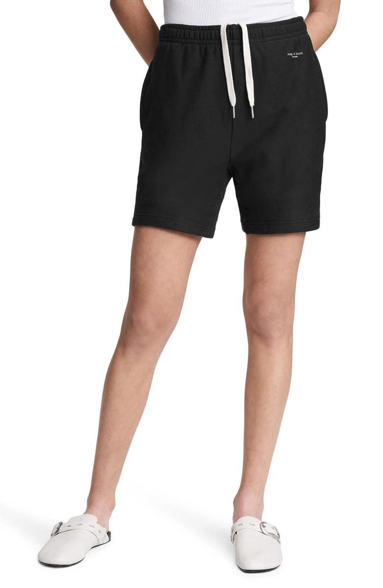 RAG & BONE City Sweat Shorts, Main, color, BLACK
