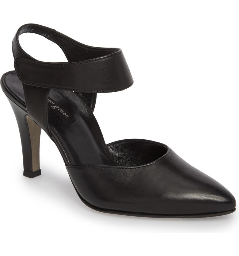 PAUL GREEN Nicolette Pointy Toe Pump, Main, color, 001