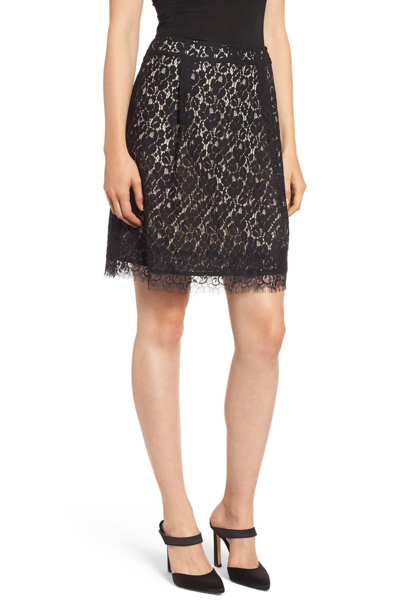 GIBSONLOOK Gibson x Glam Squad Lace Skirt, Main, color, 017