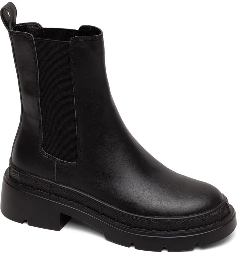 LISA VICKY Marvel Chelsea Boot, Main, color, BLACK LEATHER