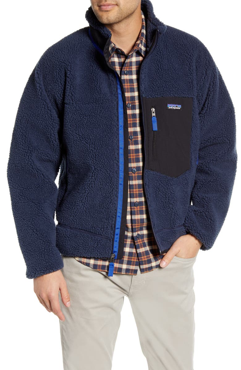 PATAGONIA Retro-X Fleece Jacket, Main, color, NEW NAVY