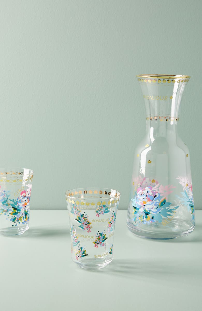 ANTHROPOLOGIE HOME Anthropologie Gilded Journey Carafe, Main, color, 710