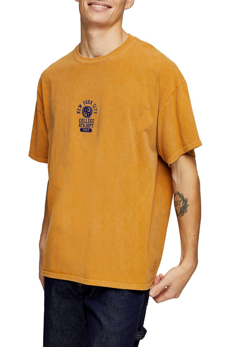 TOPMAN NYC Oversize Embroidered T-Shirt, Main, color, 700