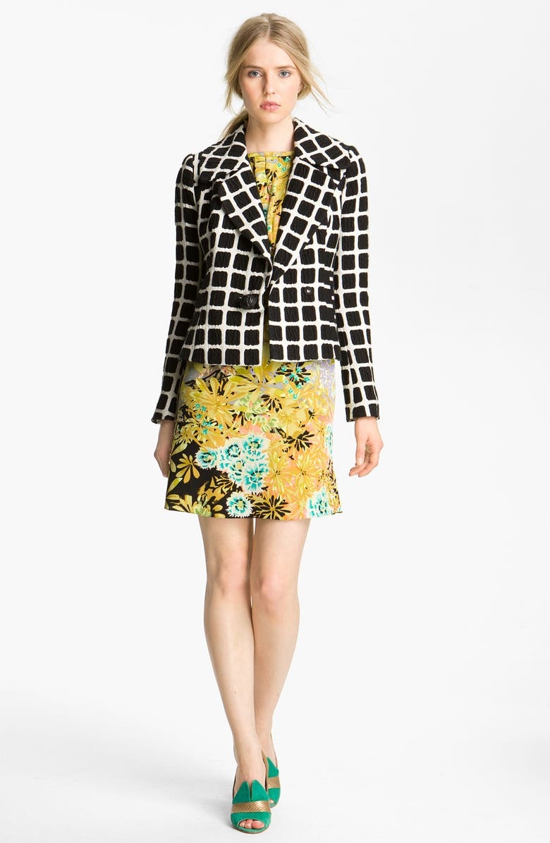 TRACY REESE 'Black Box' Double Breasted Jacquard Jacket, Main, color, 198