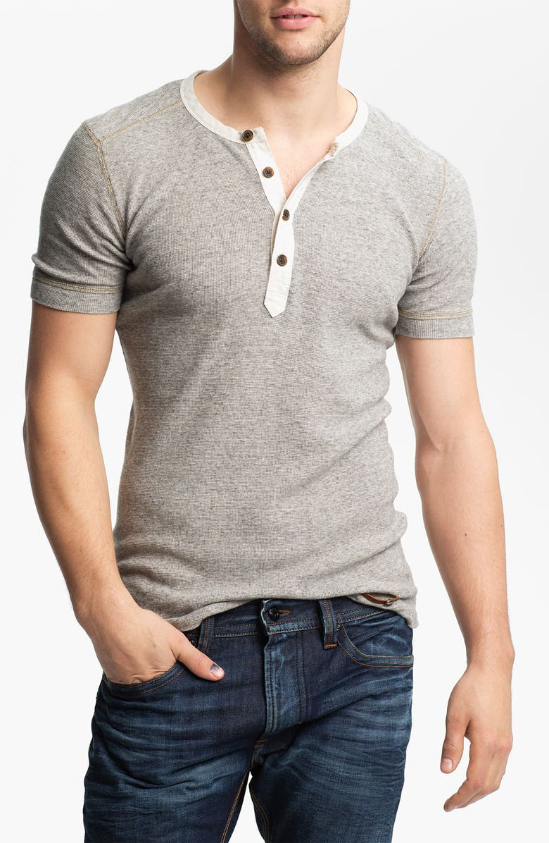 DIESEL<SUP>®</SUP> Waffle Knit Henley T-Shirt, Main, color, 024