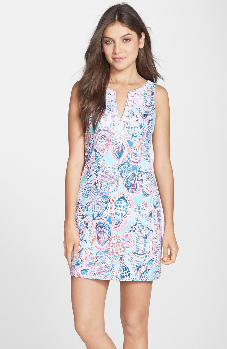 LILLY PULITZER<SUP>®</SUP> 'Gabby' Cotton A-Line Dress, Main, color, MULTI