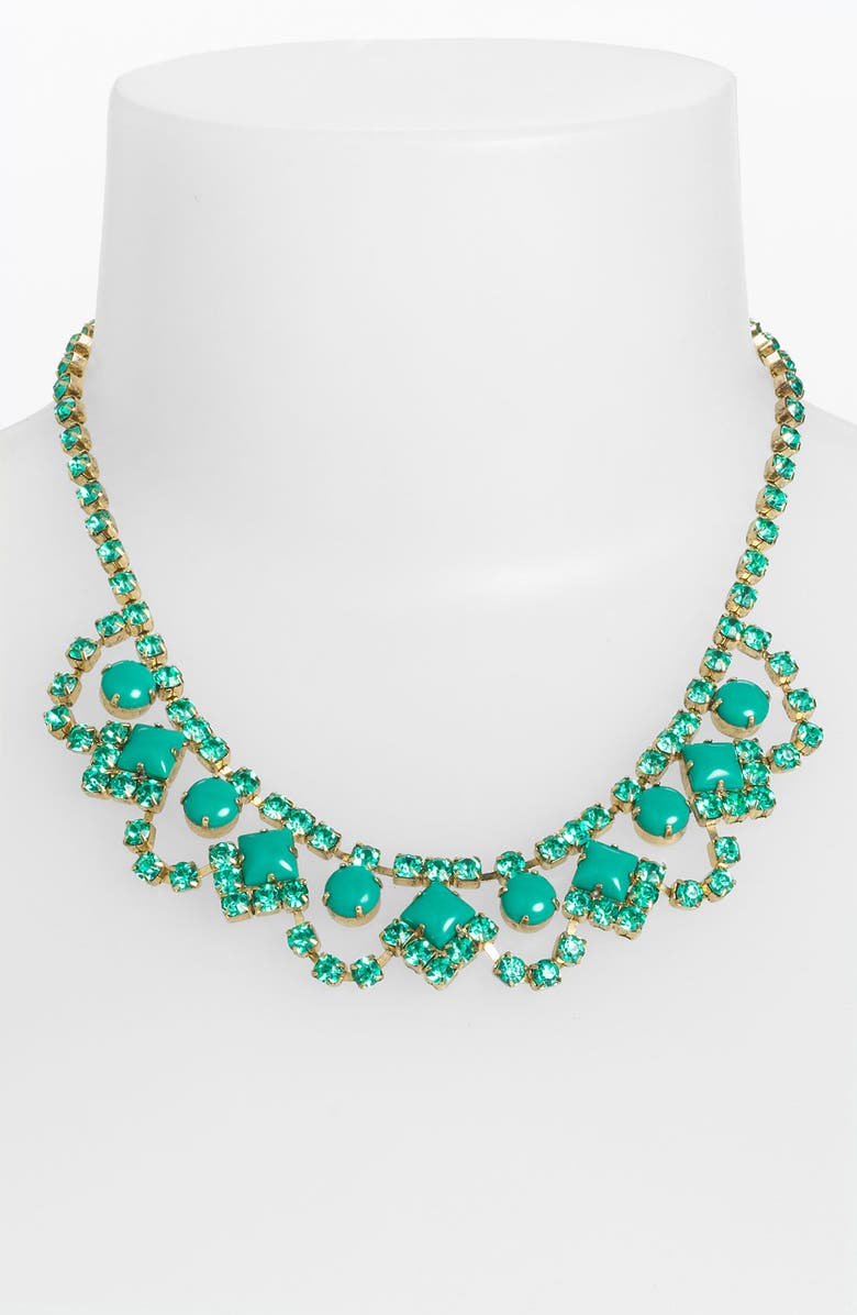 SWEET SCANDAL 'Lulu' Crystal Necklace, Main, color, TURQUOISE
