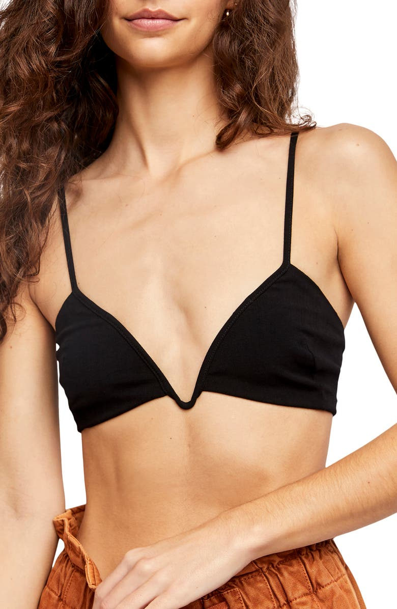 FREE PEOPLE Intimately FP Suri Stretch Woven Bralette, Main, color, BLACK
