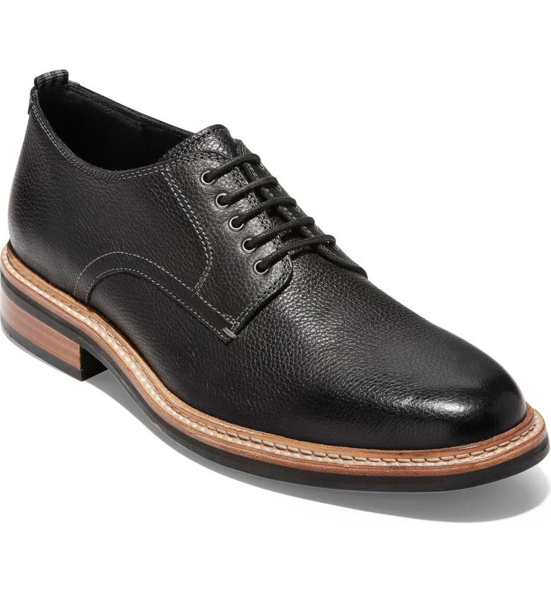 COLE HAAN Frankland Grand Plain Toe Derby, Main, color, 001