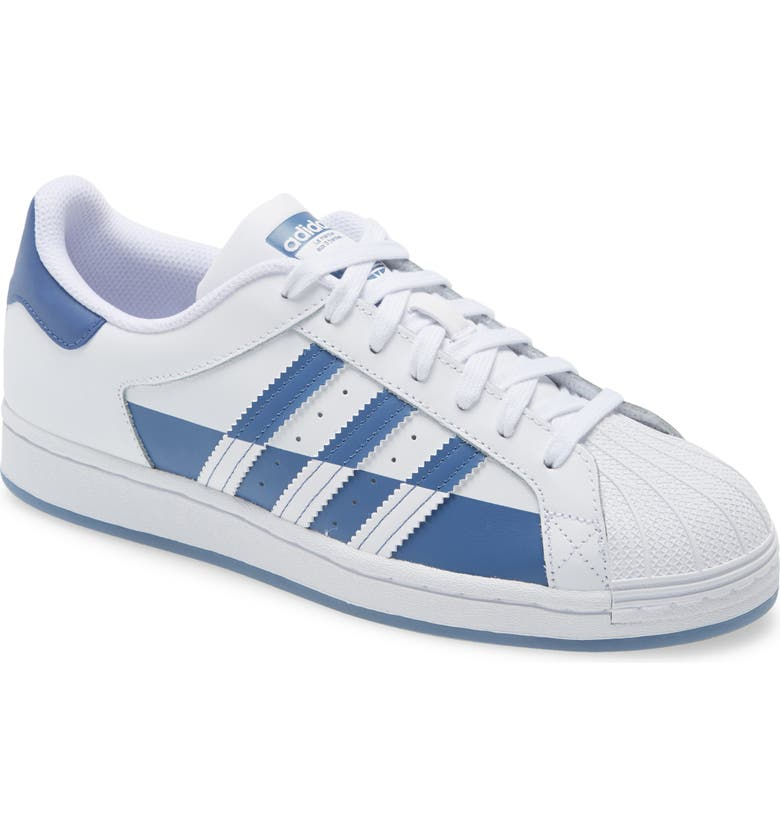 ADIDAS Superstar Sneaker, Main, color, FTWR WHITE/ CREW BLUE/ FTWR WH