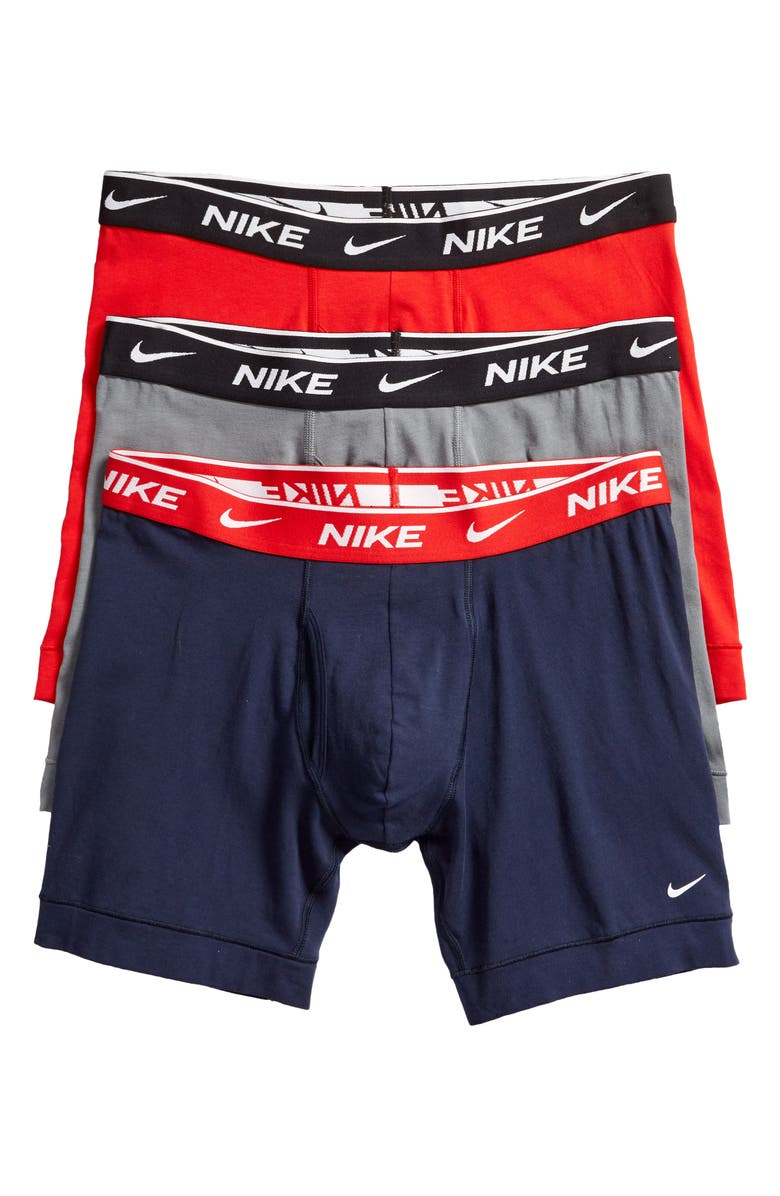 NIKE Dri-FIT Everyday Assorted 3-Pack Performance Boxer Briefs, Main, color, OBSIDIAN/ COOL G