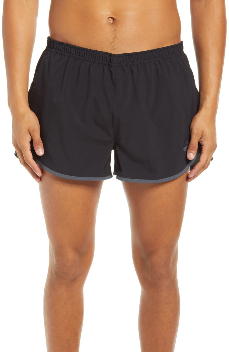 "BROOKS Hightail Men's 3"" Split Performance Running Shorts, Main, color, 019"