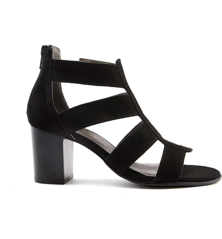 DAVID TATE Francis Strappy Sandal - Multiple Widths Available, Main, color, BLACK NUBUCK LEATHER