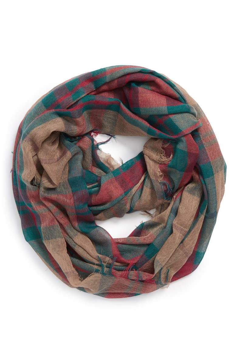 BP. Plaid Woven Infinity Scarf, Main, color, 200