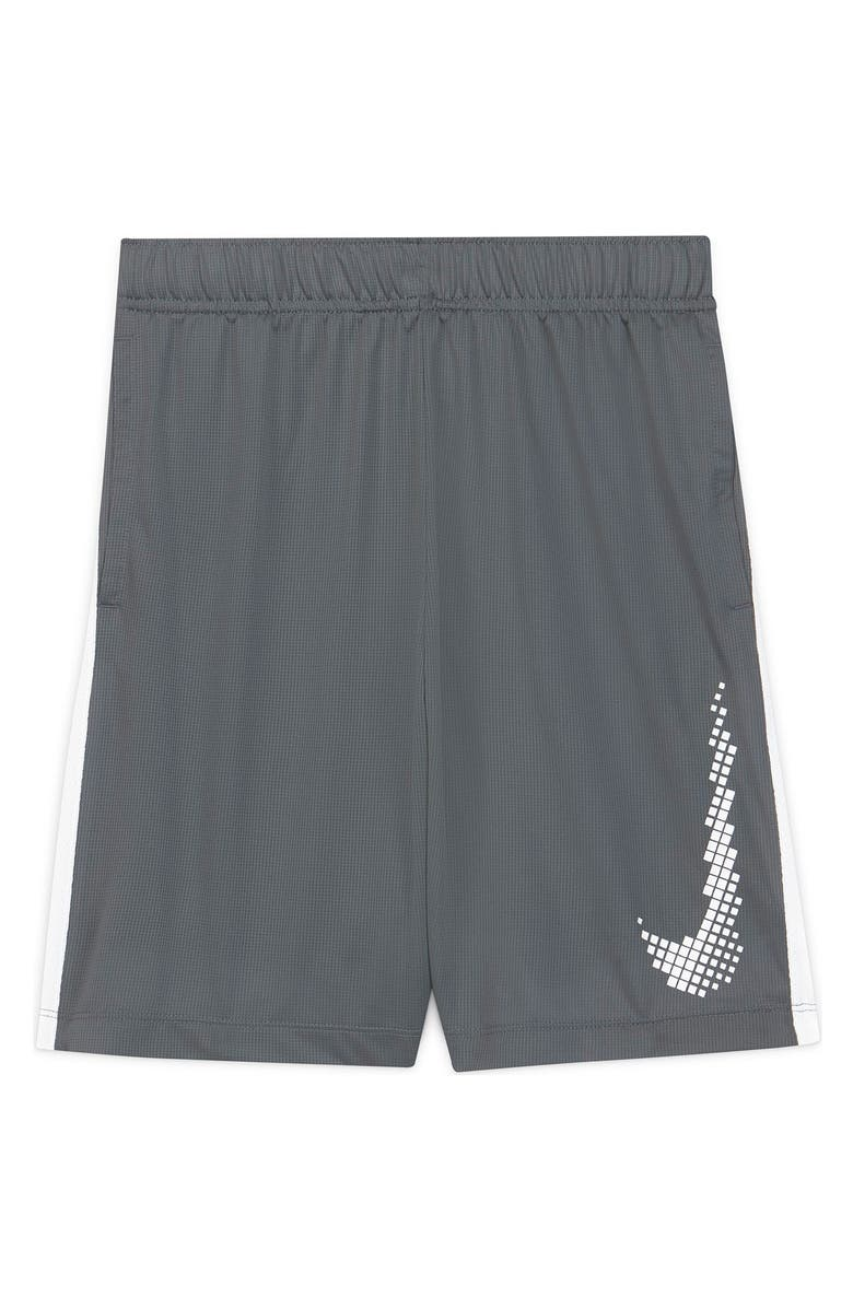 NIKE Dominate Graphic Shorts, Main, color, SMKGRY/WHITE