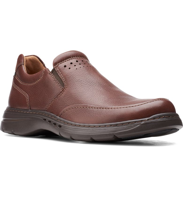 CLARKS<SUP>®</SUP> Brawley Loafer, Main, color, MAHOGANY TUMBLED LEATHER