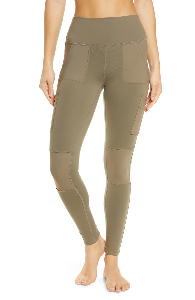 ALO High Waist Cargo Leggings, Main, color, OLIVE BRANCH