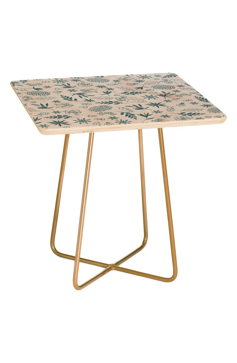 DENY DESIGNS Frost Side Table, Main, color, BLUE