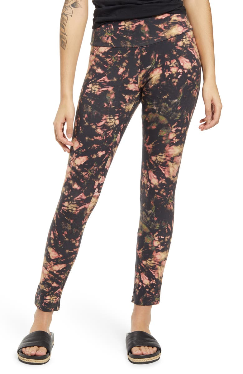 AFRM Alessi High Waist Ankle Leggings, Main, color, ABSTRACT MULTI TIE DYE