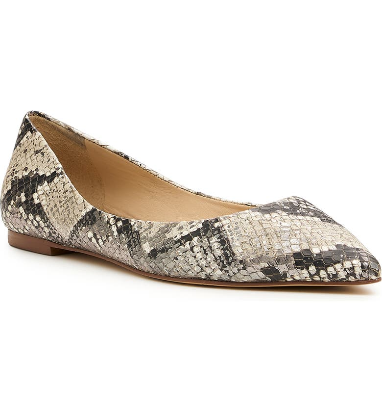 BOTKIER Annika Pointed Toe Flat, Main, color, SNAKE PRINT LEATHER