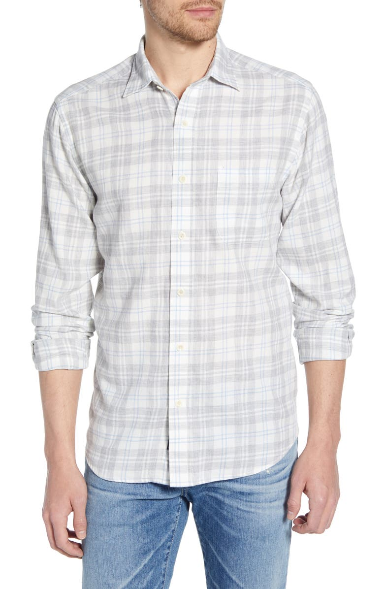 FAHERTY Everyday Regular Fit Plaid Shirt, Main, color, 035