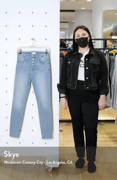 Good Legs Button Fly Ankle Skinny Jeans, sales video thumbnail