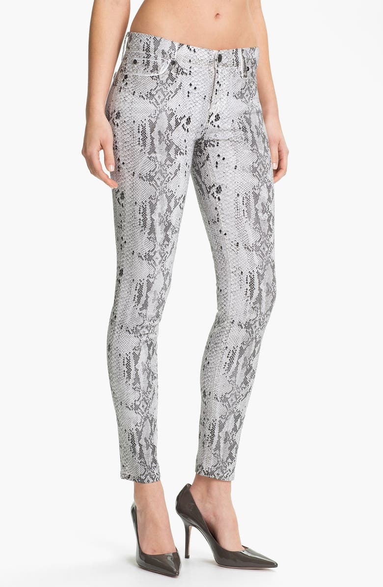 7 FOR ALL MANKIND<SUP>®</SUP> 'The Skinny' Print Stretch Jeans, Main, color, 101