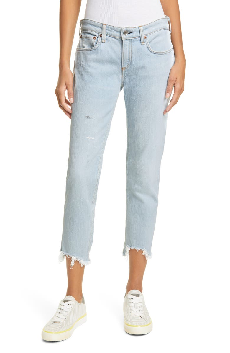 RAG & BONE Dre Fray Hem Crop Slim Boyfriend Jeans, Main, color, 450