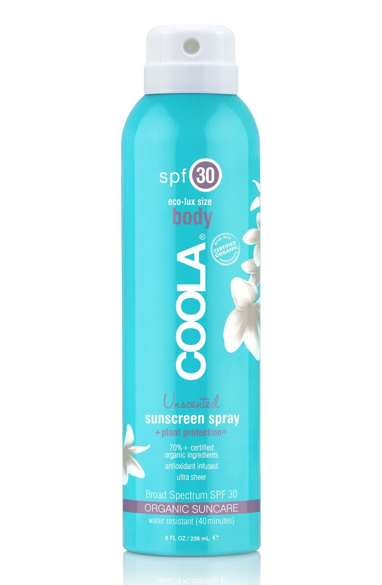 COOLA<SUP>®</SUP> Suncare Sport Sunscreen Spray Broad Spectrum SPF 30, Main, color, UNSCENTED