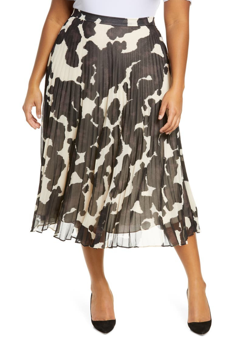 SANCTUARY Pleat It Skirt, Main, color, PONY PRINT