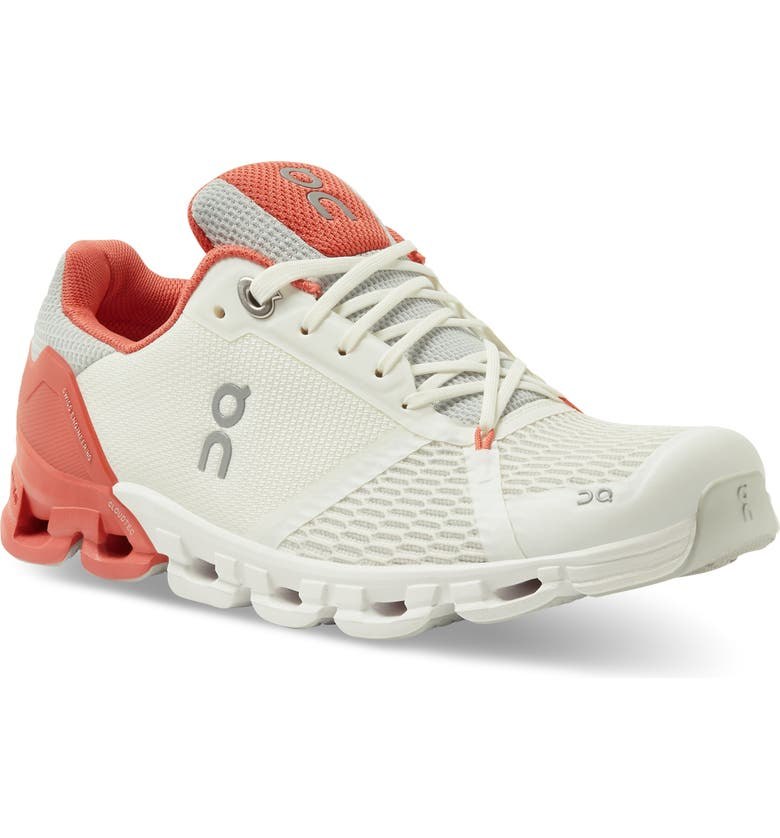 ON Cloudflyer Running Shoe, Main, color, WHITE/ CORAL
