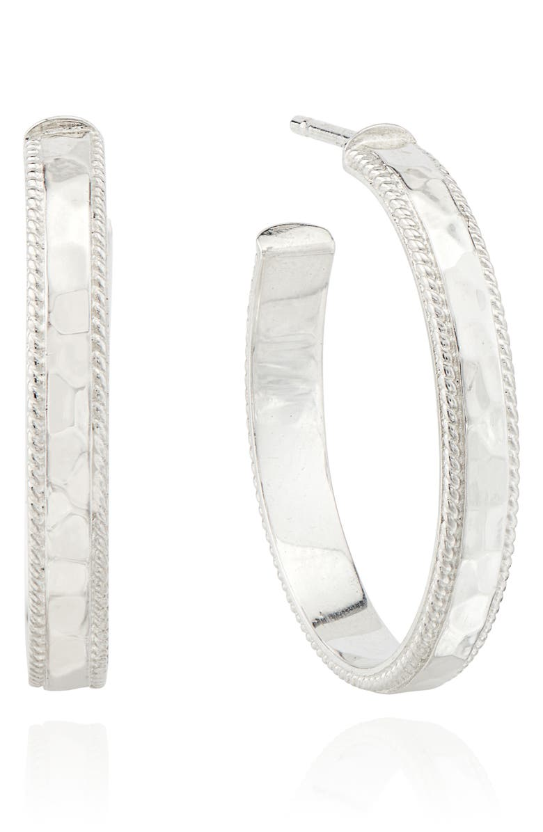 ANNA BECK Medium Hammered Hoop Earrings, Main, color, 040